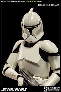 "Sideshow Collectibles 1/6 Scale Star Wars 12"" Clone Trooper ""Shiny"" Figure"