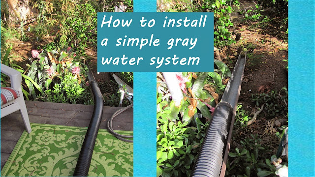 How to install a simple gray water system from your washing machine