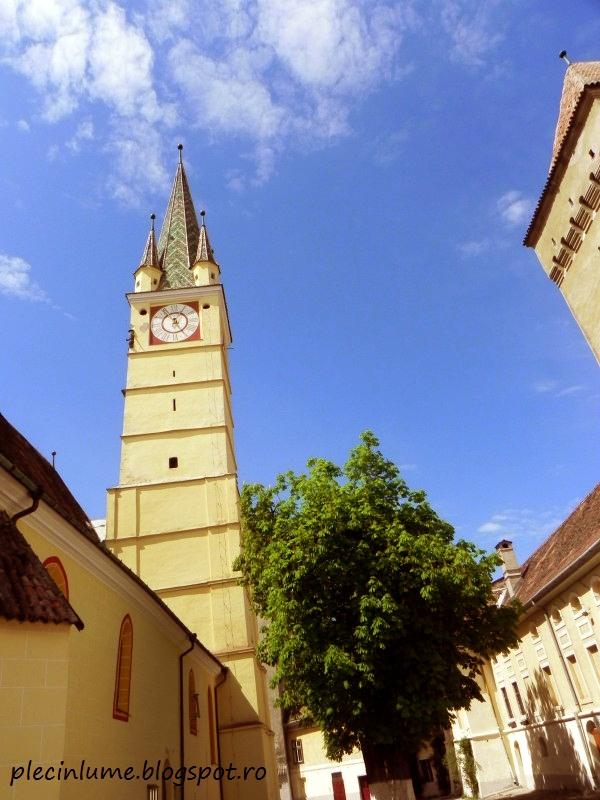 Turnul bisericii din Medias