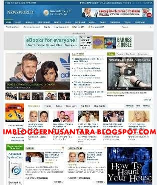 Download Template Blogger Magazine News World Gratis 2014