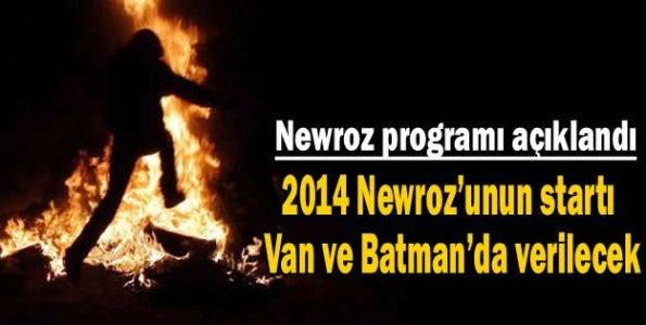 2014 Newroz kutlamalarının programları açıklandı.