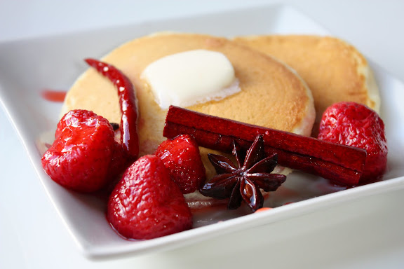 Strawberries in Spiced Red Wine Syrup - SheSimmers
