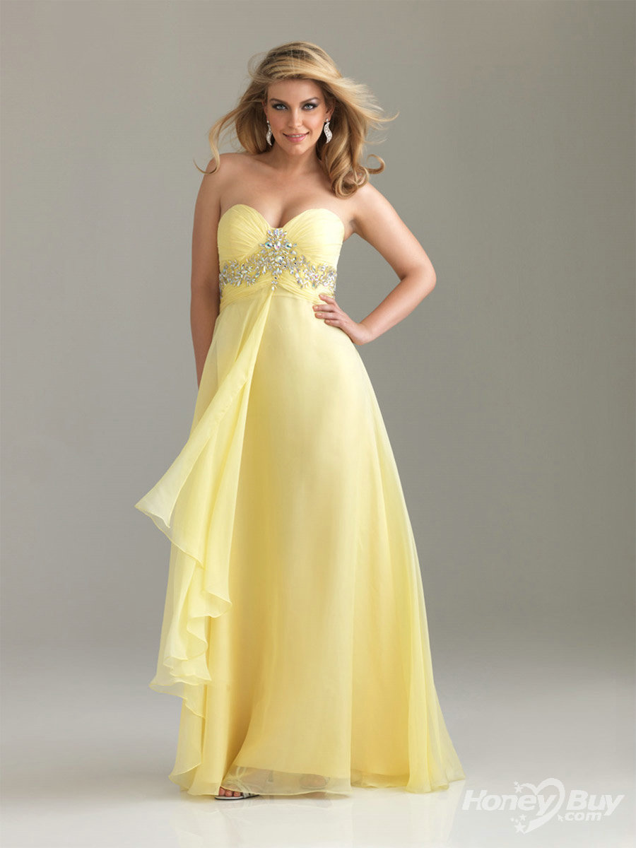 Yellow Prom Dresses Cheap 4