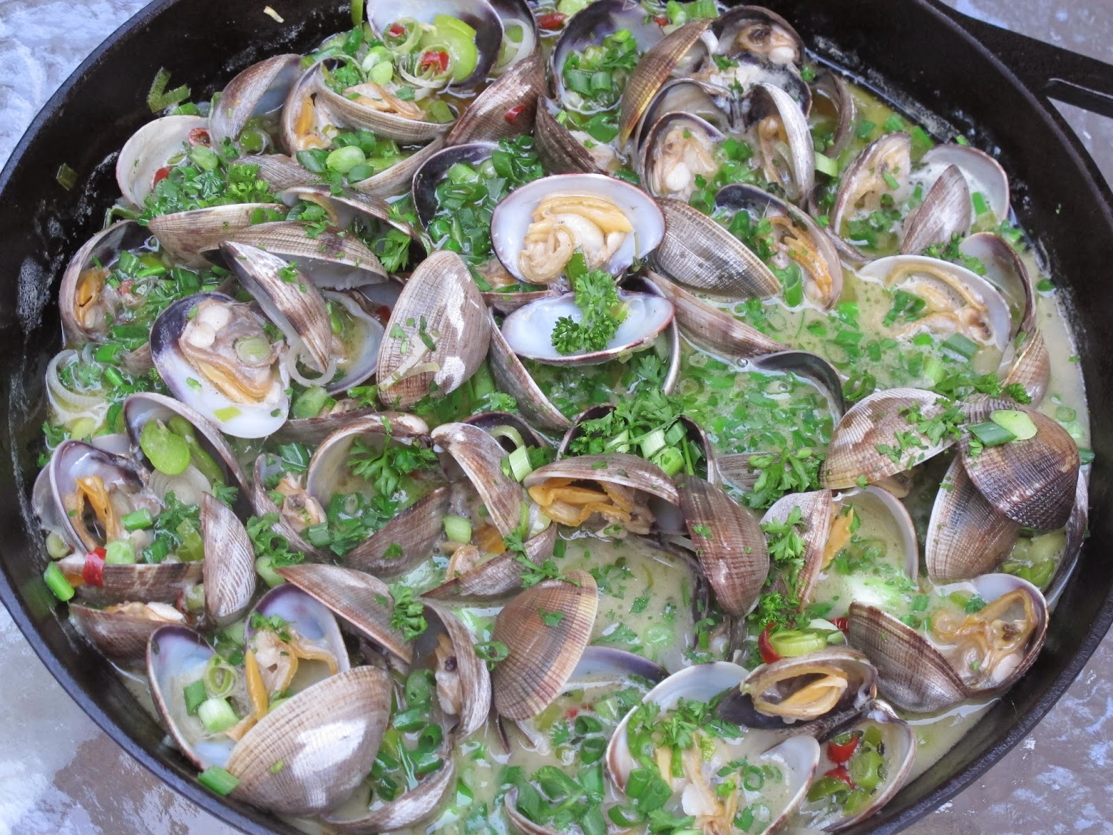 AOC Roasted Clams with Fava Beans and Sherry