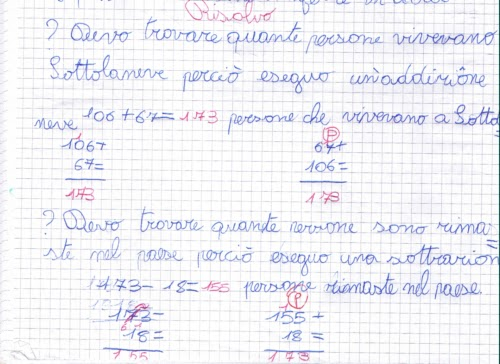 Didattica matematica scuola primaria problemi con due for Domande per i costruttori di case