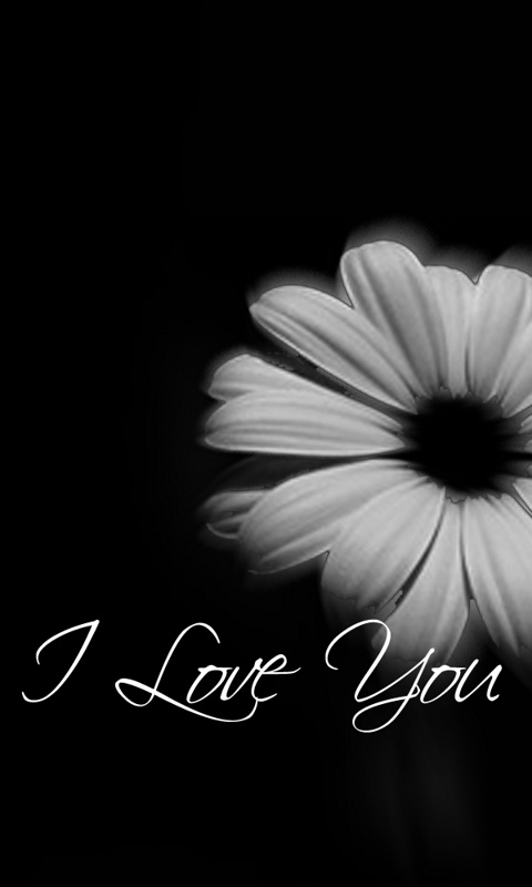 Love Wallpapers For Mobile : Black And White Love Mobile Wallpaper - Easy Pic Download