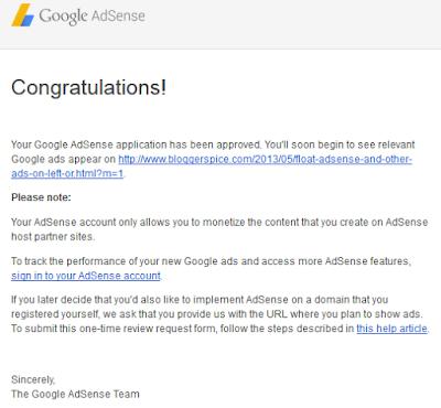 AdSense approval