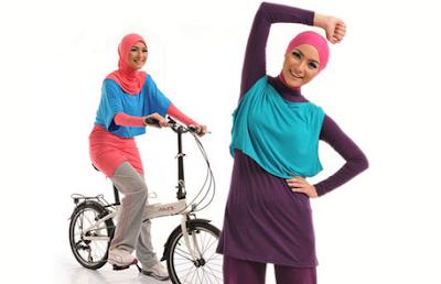 contoh desain jilbab olahraga