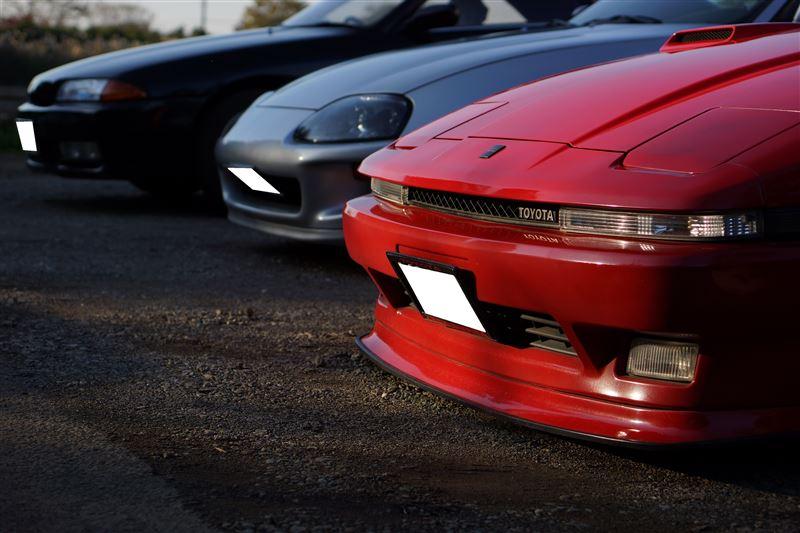 Toyota Supra A70 MK3 & A80 MK4, kultowy samochód, znany, 2JZ, 1JZ, JDM, fotki, zdjęcia. czerwona