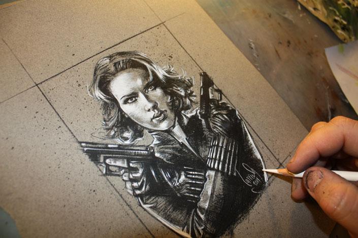 Scarlett Johansson as Black Widow, Copyright © 2014 Jeff Lafferty
