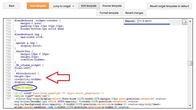 cara menghapus atribut tulisan powered by blogger di blog
