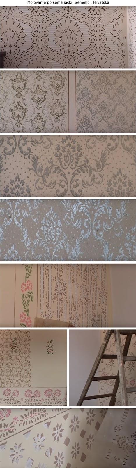 decorazione, rulli decorativi vintage, wall painting, vintage patterned paint rollers, starinski reljefni valjci za moleraj