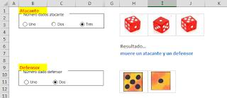 Jugando a los dados con Excel.