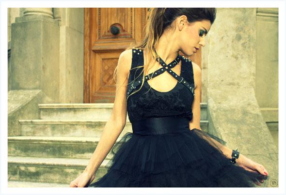 Viuda Negra otoño invierno 2012 por Rocío Palacios. Vestidos.