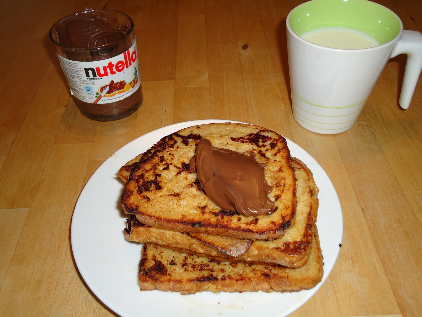 chroazfood pain perdu au banane et nutella. Black Bedroom Furniture Sets. Home Design Ideas