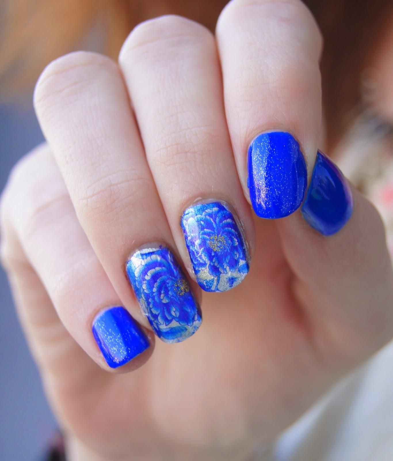 nail art printemps fleurs