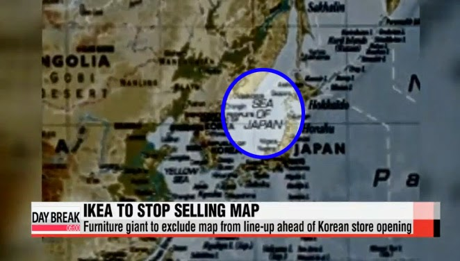Fullkorea ikea to stop selling controversial sea of japan the map caused quite a stir here in korea as it refers to the sea as sea of japan and doesnt include the korean name east sea gumiabroncs Images