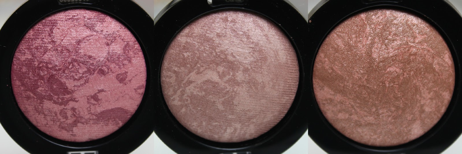 A picture of Max Factor Creme Puff Blush in 30 Gorgeous Berries, 10 Nude Mauve, 25 Alluring Rose