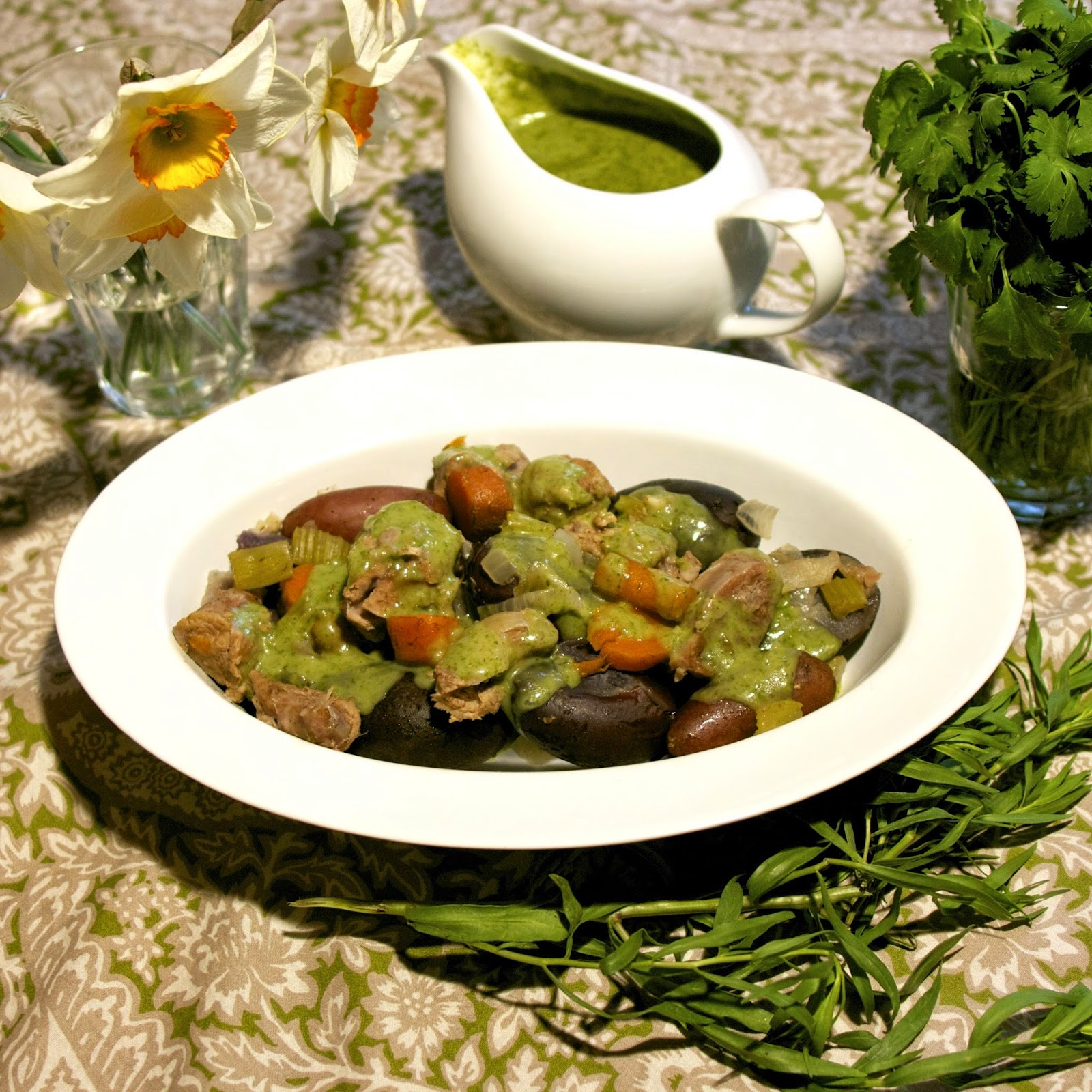 Green-as-Spring Veal Stew- simplelivingeating.com