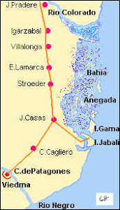 Mapa de Carmen de Patagones