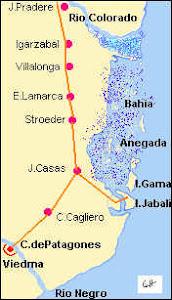 Mapa de Carmen de Patagones