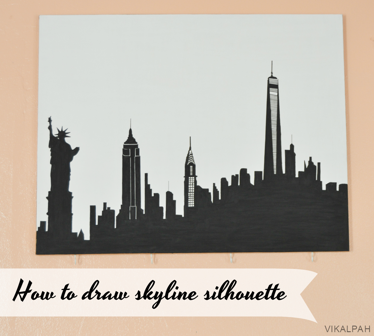 Vikalpah: How to draw skyline silhouette + NY Gallery Wall