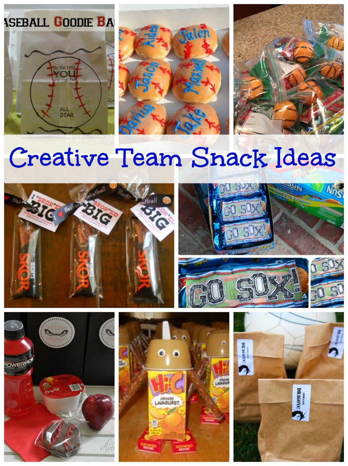 Creative Team Snack Ideas - Happy-Go-Lucky