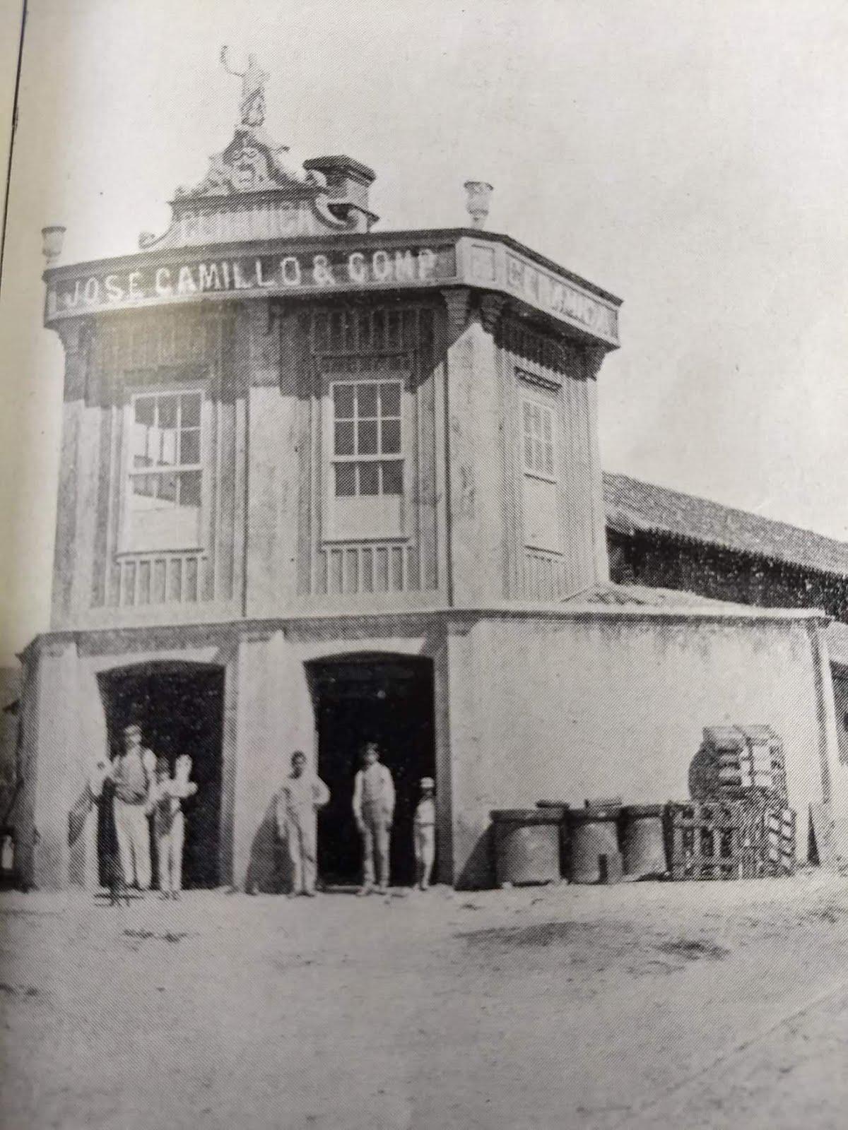 Fachada da Cerâmica Jose Camillo e Companhia em Barbacena