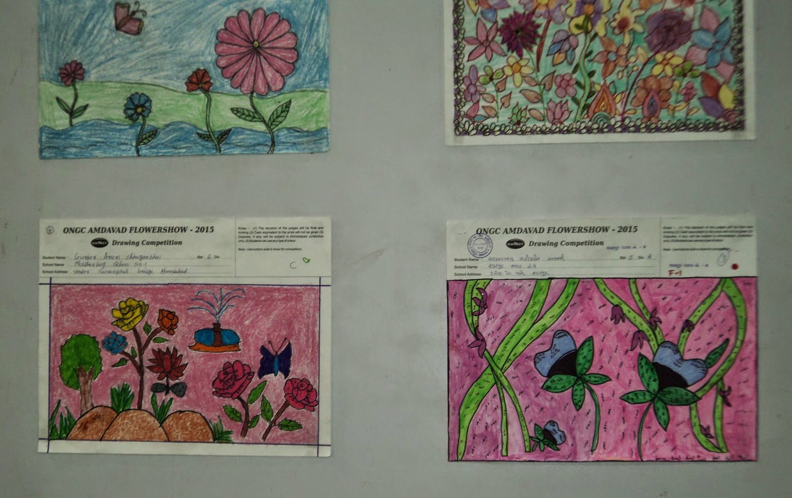 flower show theme drawing competition