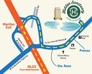 Life Check Hidden Sanctuary Hotel Resort In PrenzaMarilao - Marilao map