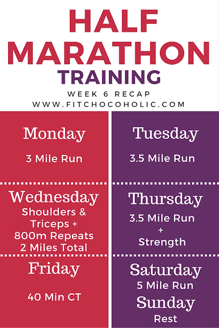 Half Marathon Training: Week 6 Update
