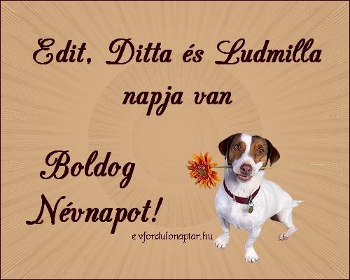Szeptember 16 - Edit, Ditta, Ludmilla névnap