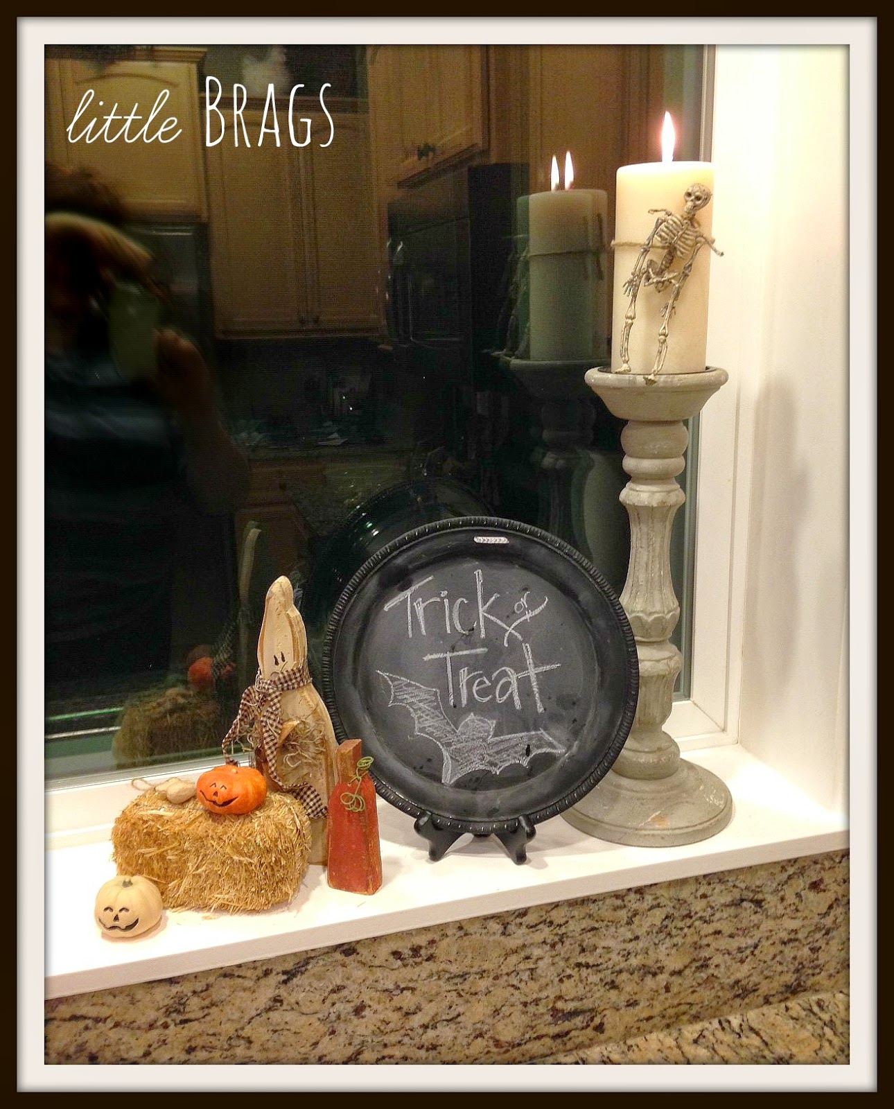 Little brags last minute halloween decor for B m halloween decorations