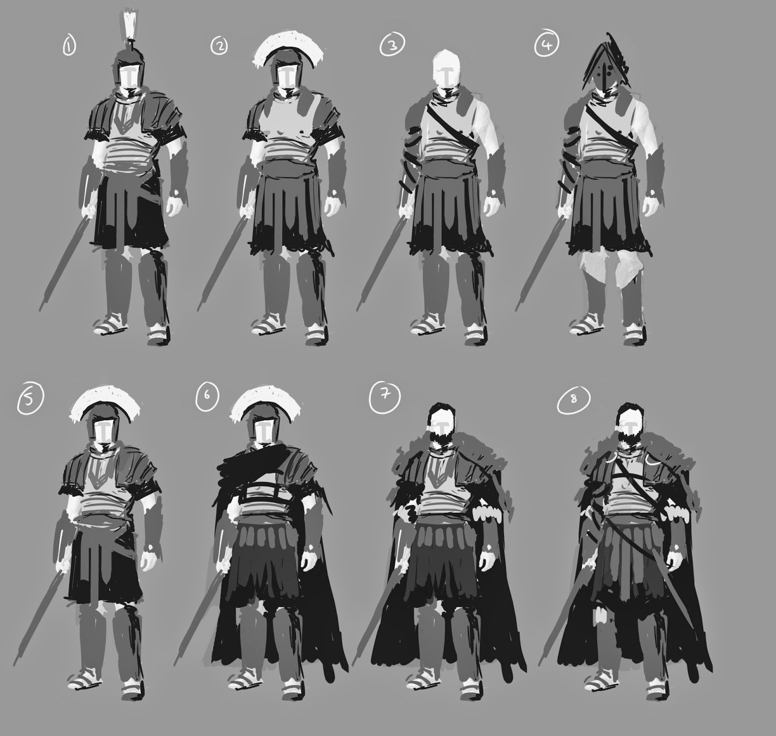 Character Design Brief : David paget ma concept art pete amachree brief romans