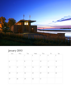 illustrator calendar shown with photograph.