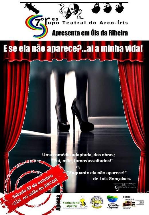 Teatro do Arco Íris com comédia no Salão Cultural da Arcor!