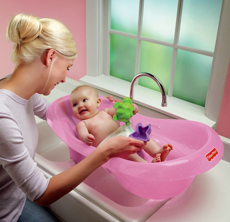 Fisher-Price Pink Sparkles Tub - baby bath chair title=