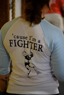 Kate Rawlings in 'Cause I'm a Fighter T-Shirt