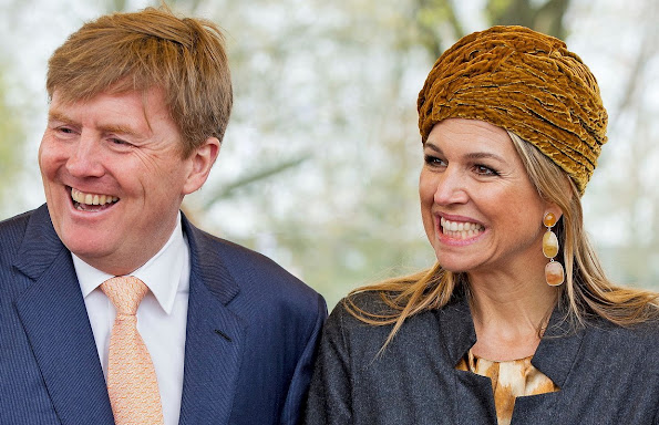King Willem-Alexander and Queen Maxima of The Netherlands take part in celebrations marking the 200th anniversary of the kingdom on April 25, 2015 in Zwolle, Netherlands.