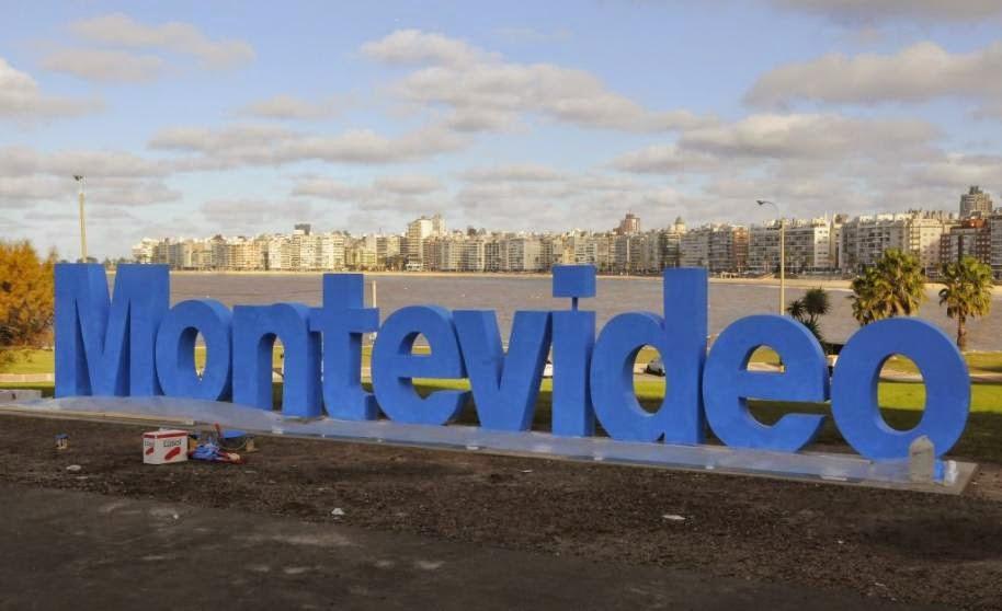 Onde fica o letreiro de Montevideu