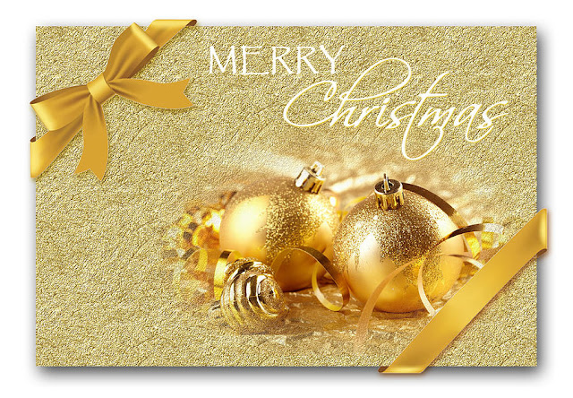 merry christmas card Gold balls images