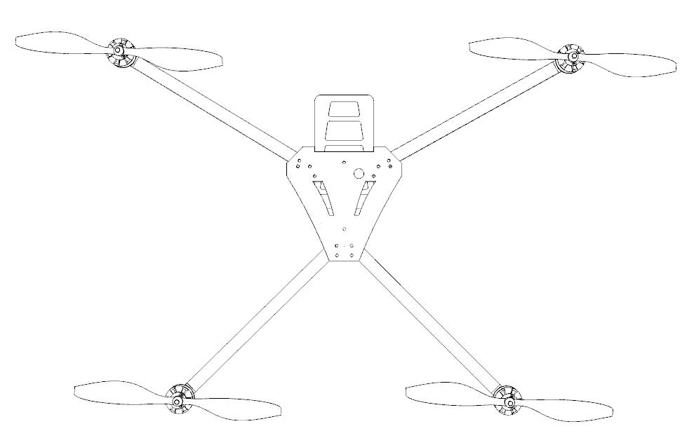 asymmetrical quadcopter v1 0