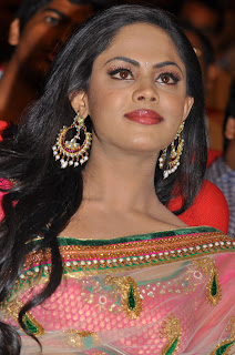 Karthika Spicy Telugu Acterss in Transparent Saree Fit Sizzling Body Karthika