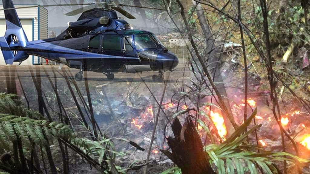 helikopter terhempas dan meletop