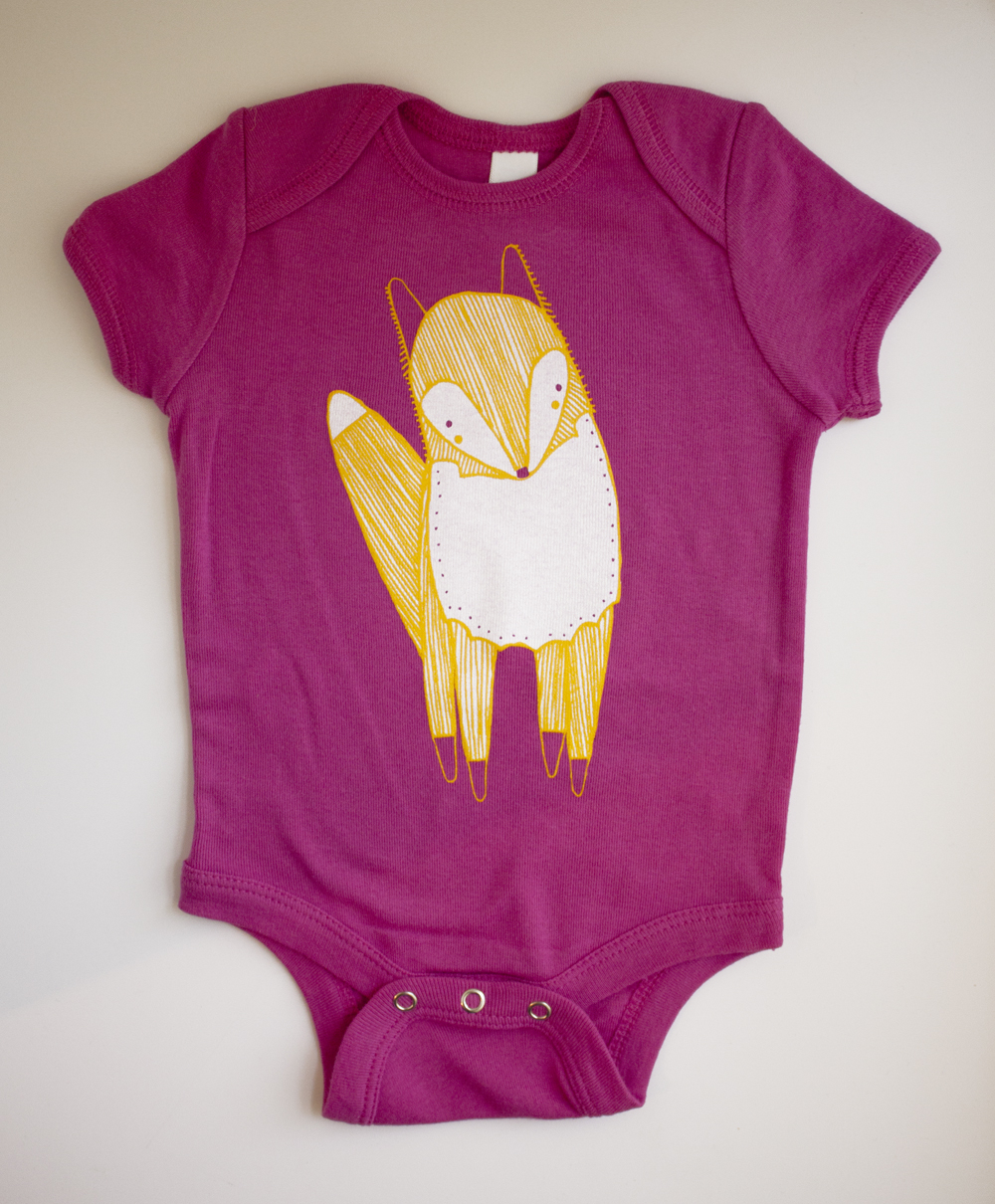 ve just added a new fox onesie design to Gingiber !