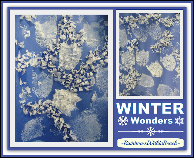 Photo of winter wonder open ended art project via winter roundup at
