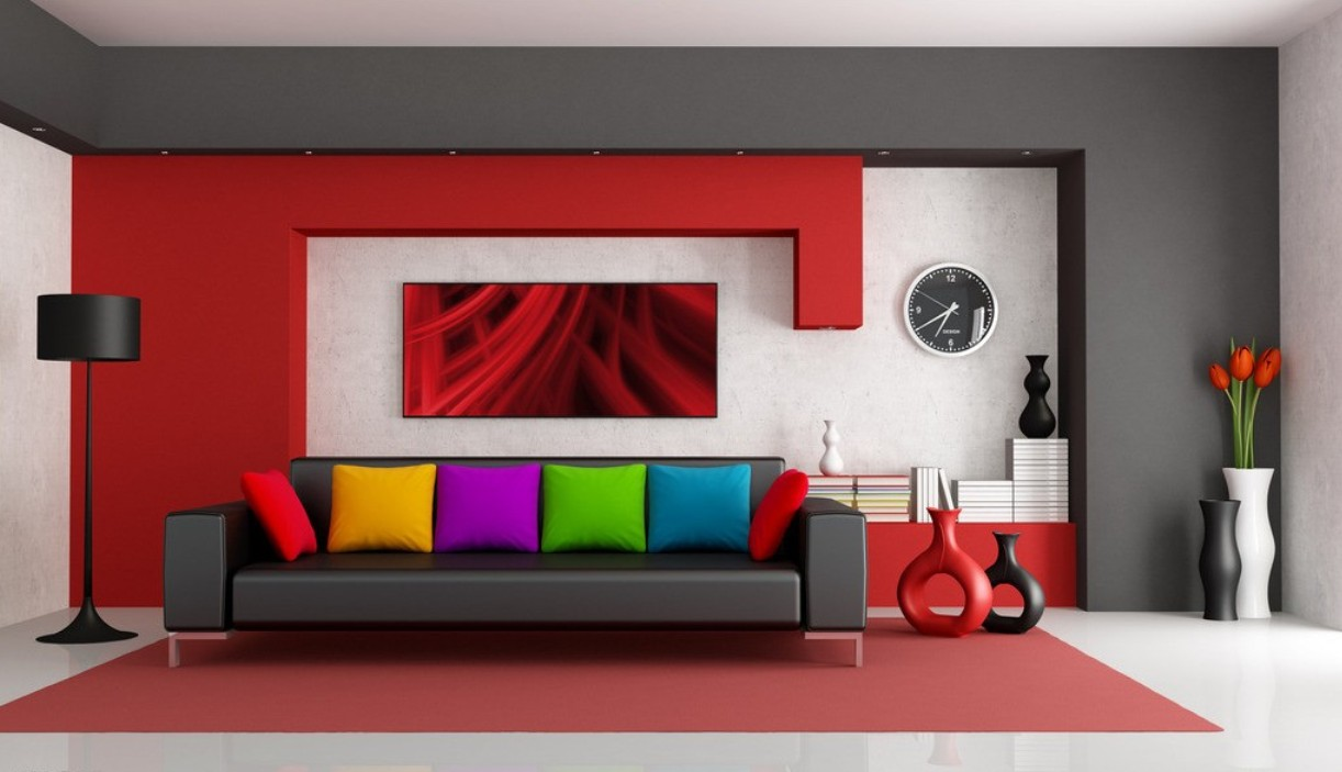 Red Living Room Decorating Red Gray And Black Living Rooms Kireicocoinfo