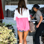 Alessandra Ambrosio wears mini shorts .. how beauty is  at All Smiles In Santa Monica