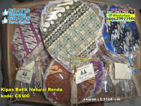 Kipas Batik Natural Renda grosir