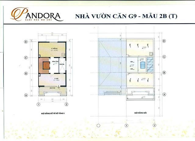 biệt thự pandora mẫu 2B tầng 5 và mái